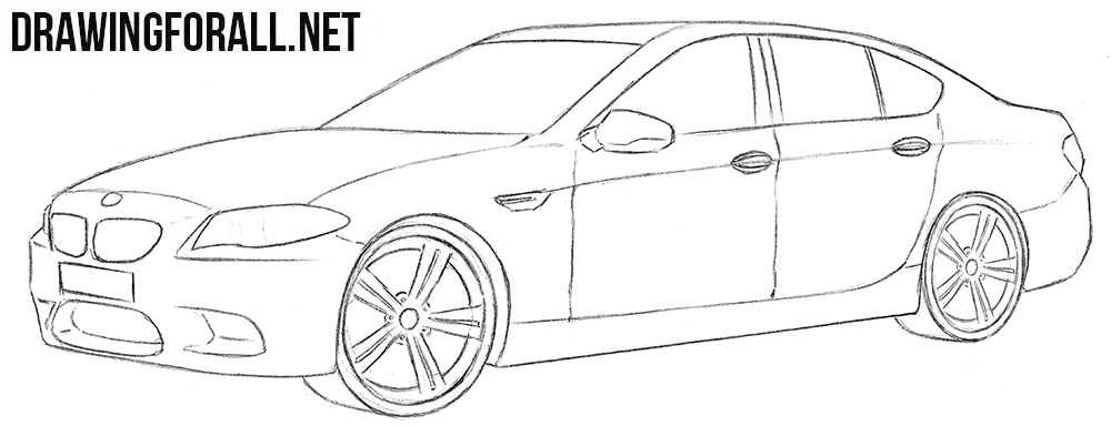 BMW M5 drawing tutorial