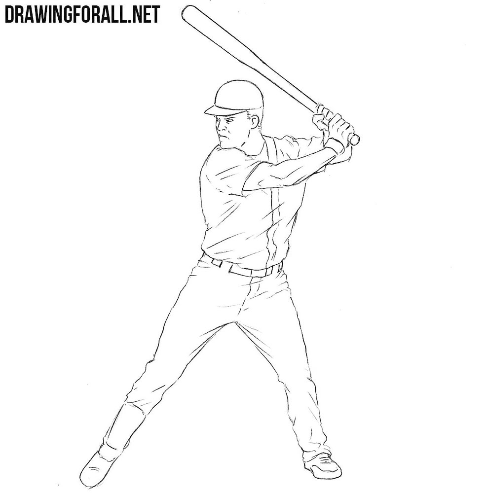 Baseball Player drawing