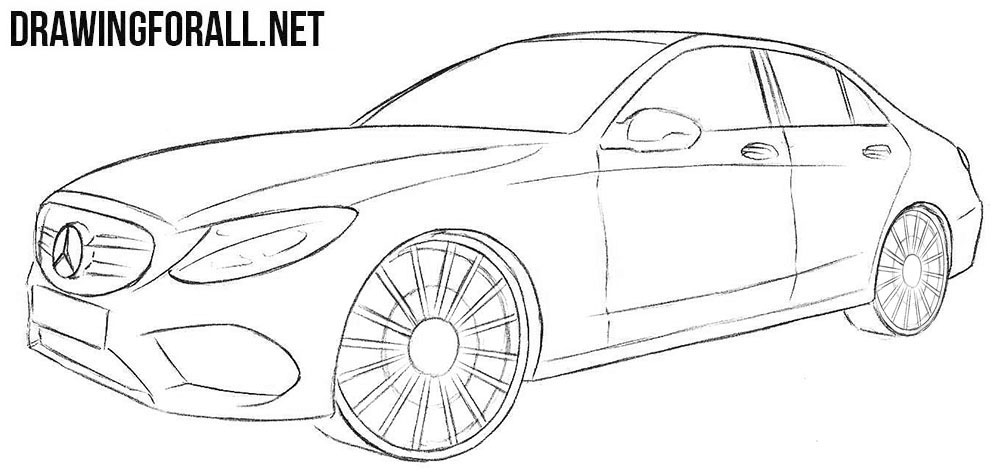 How to Draw a Mercedes-Benz C Class | DrawingForAll.net