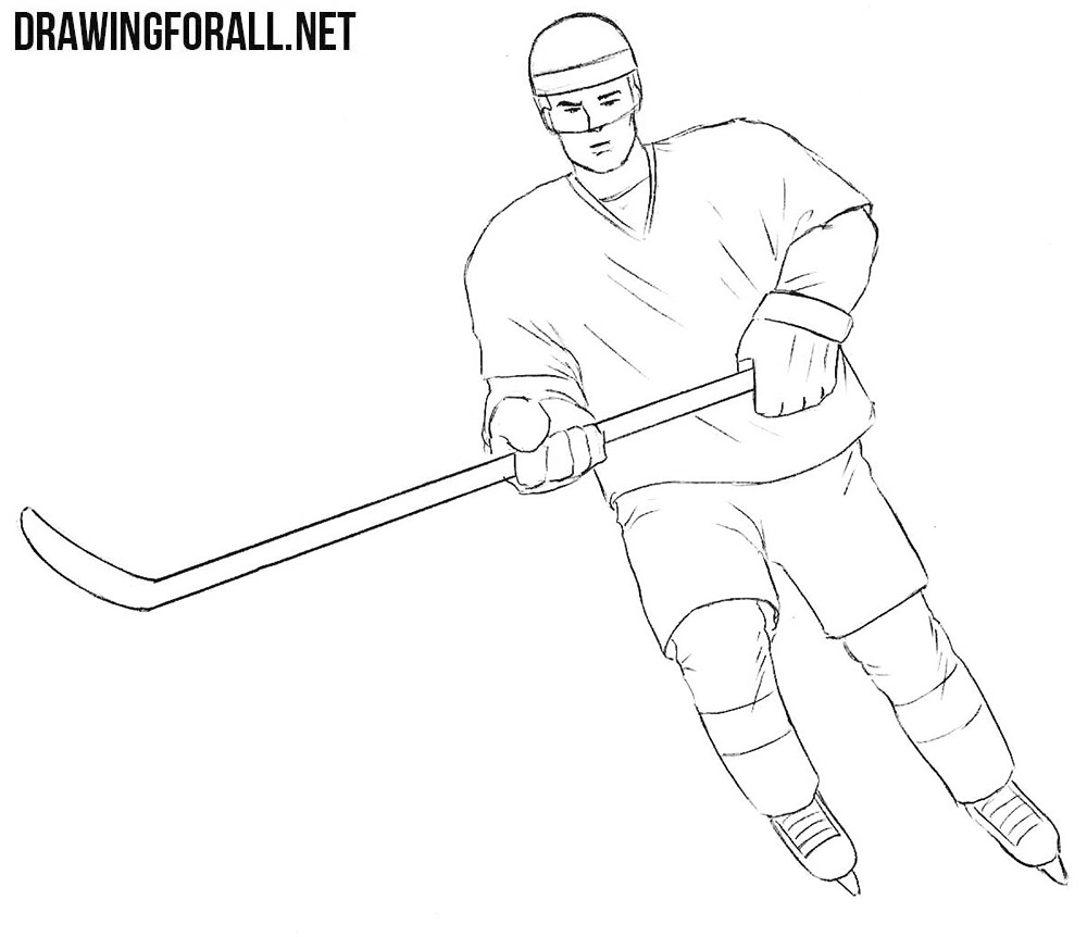Hockey player drawing tutorial