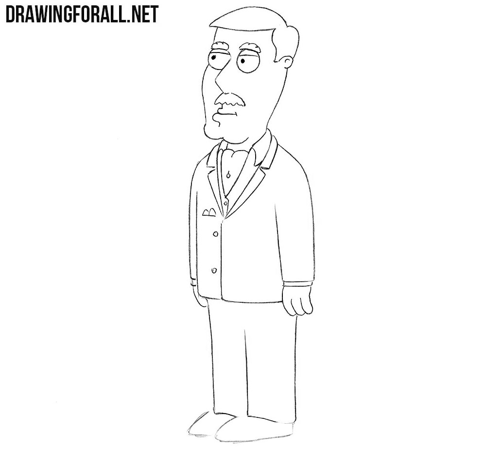 How to draw Carter Pewterschmidt