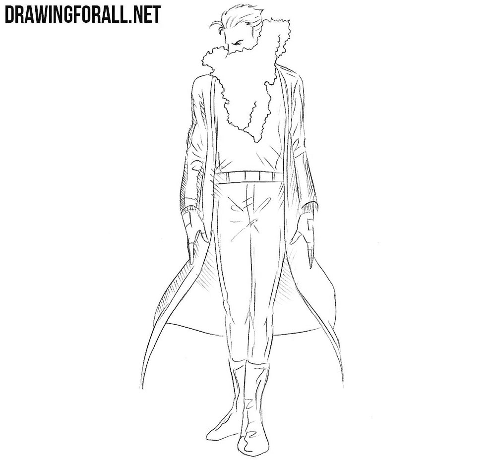 How to draw Chamber from marvel