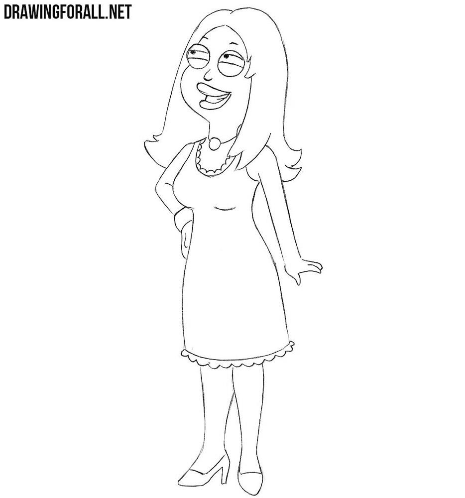 How to draw Francine Smith