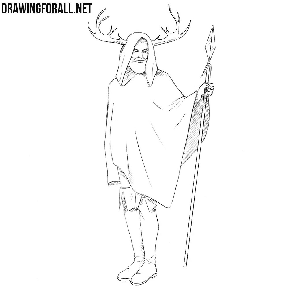How to draw Herne the Hunter