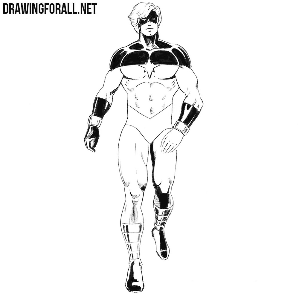 How to draw Mar Vell