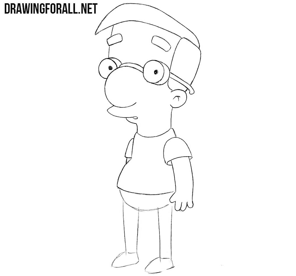 How to draw Milhouse from Simpsons