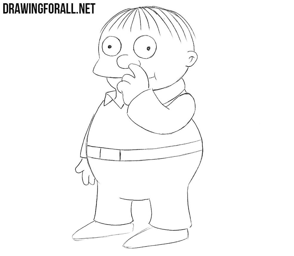 How to draw Ralph Wiggum step by step