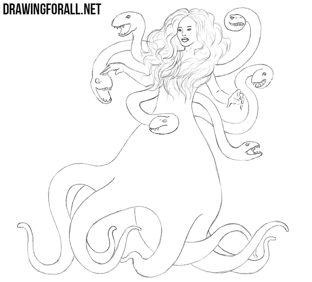 How to draw Scylla