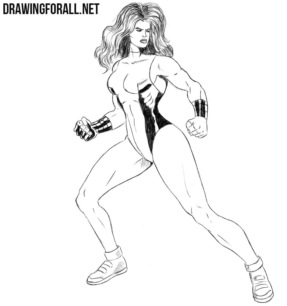 How to draw She-Hulk