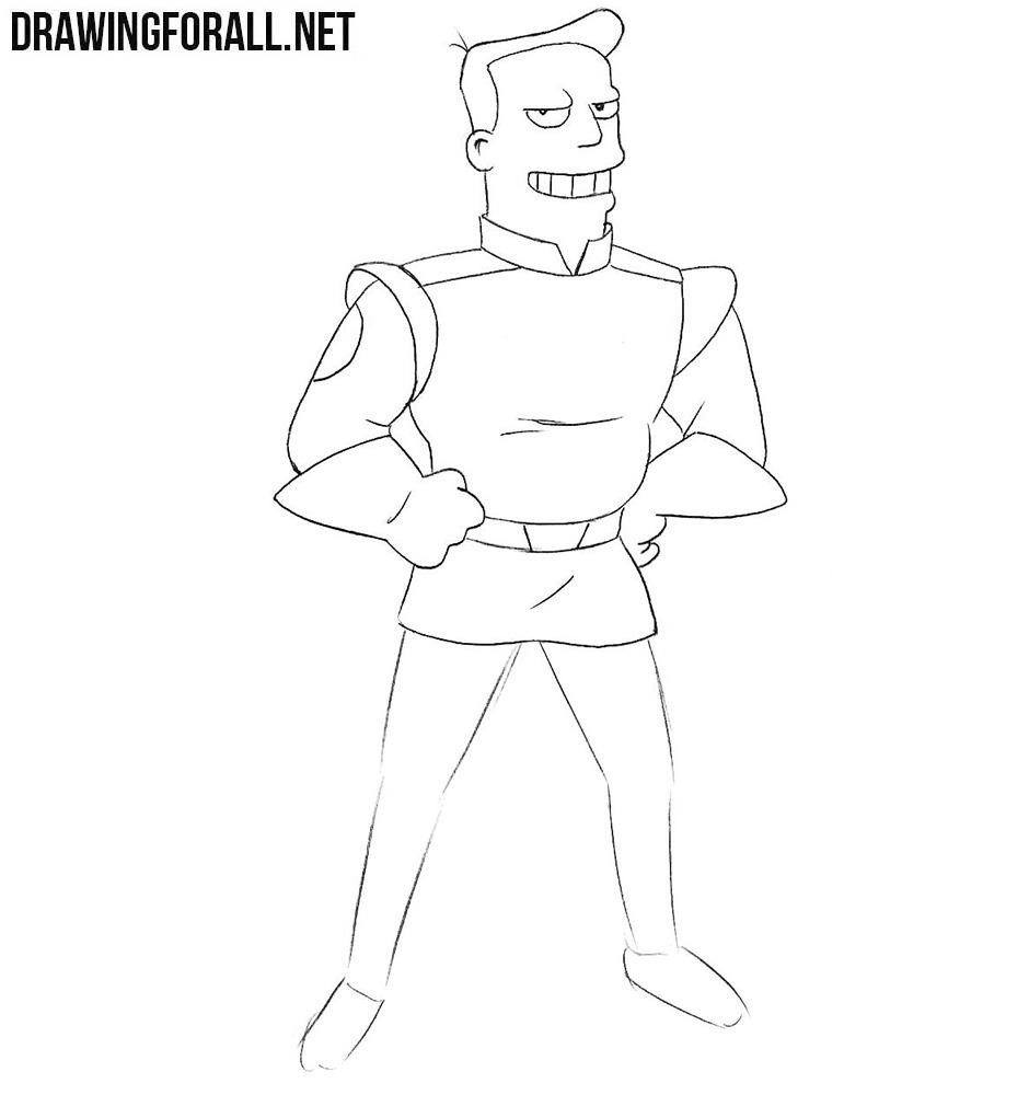 How to draw Zapp Brannigan from futurama
