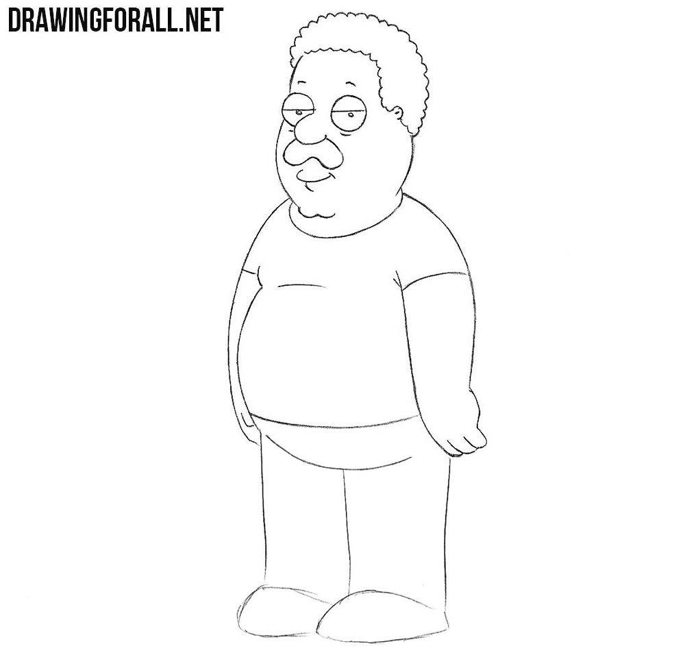 How to sketch Cleveland Brown