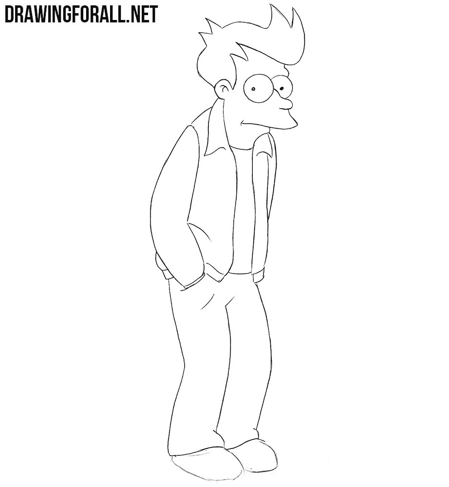 Learn how to draw Fry from Futurama