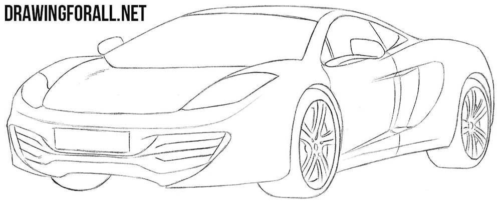 McLaren mp4 drawing tutorial