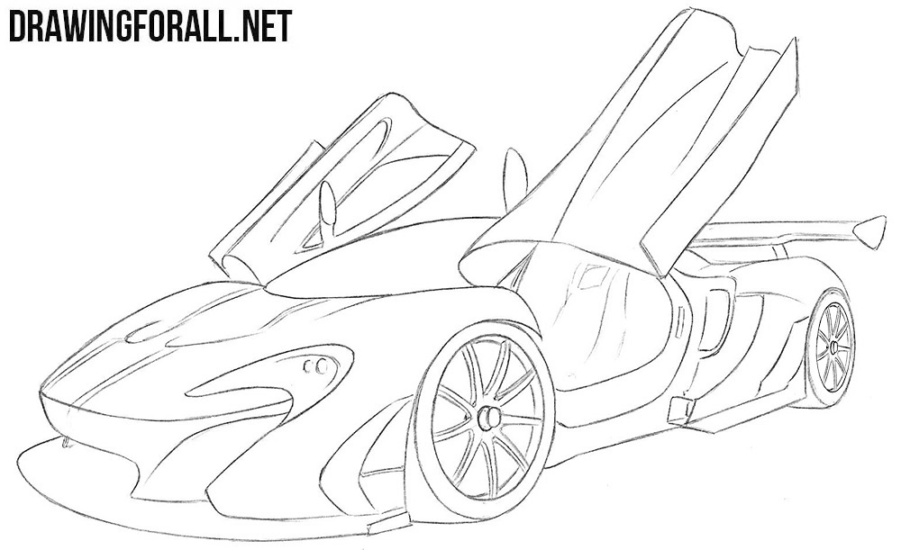 McLaren p1 gtr drawing tutorial