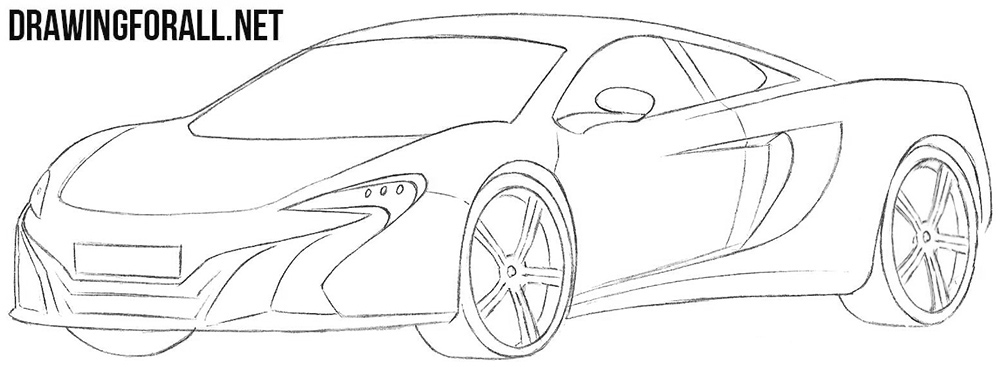 Mclaren 650s drawing tutorial