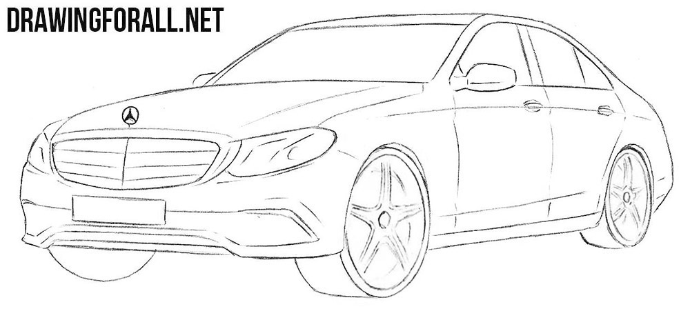 Mercedes-Benz E-Class drawing tutorial