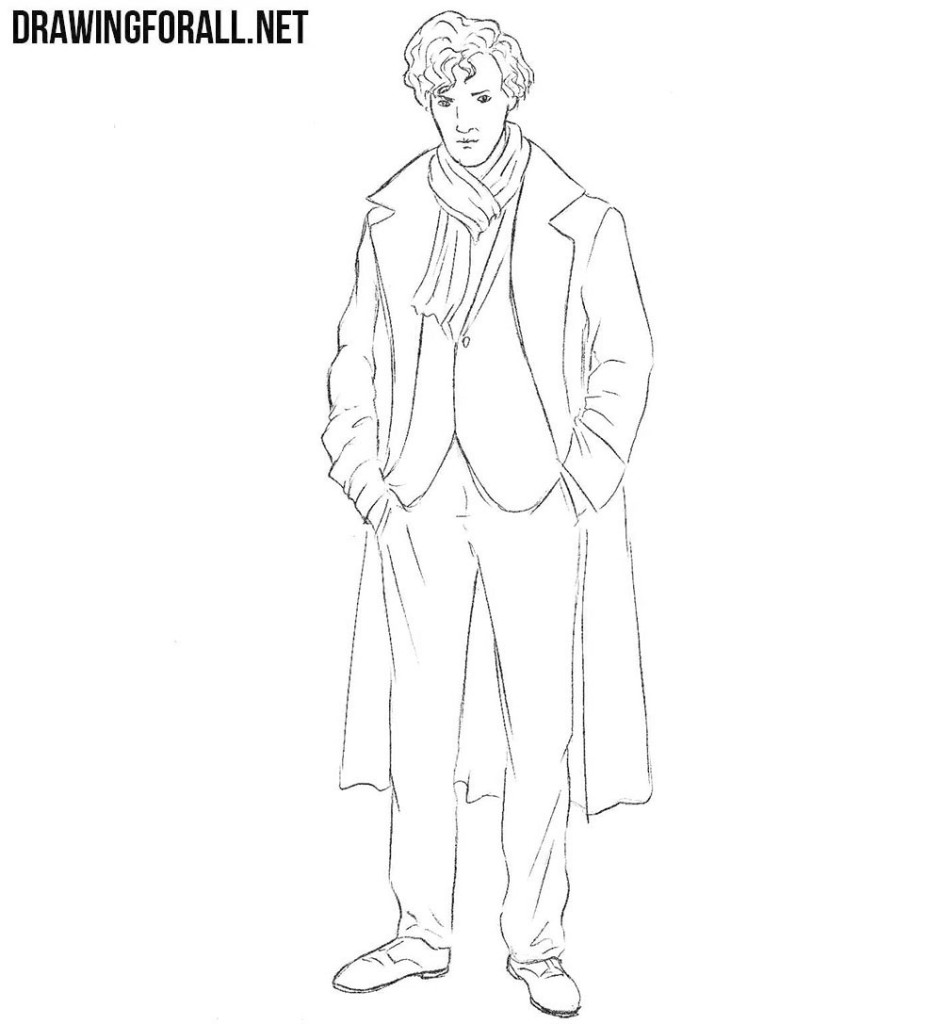 Sherlock Holmes drawing tutorial