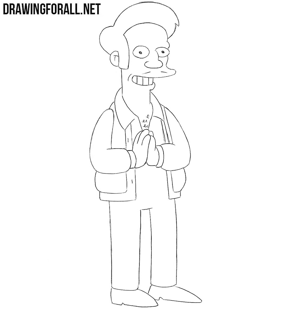 How to draw Apu from the Simpsons