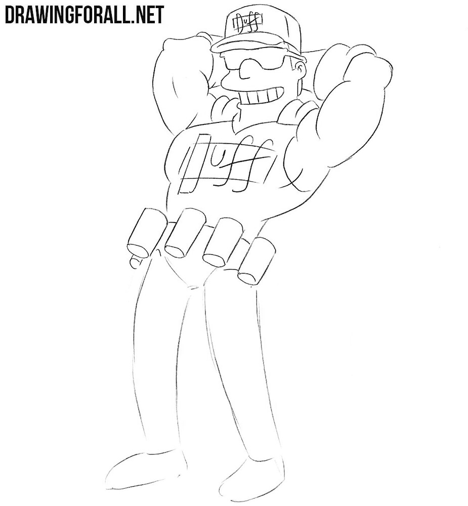 How to draw Duffman easy