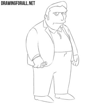 How to Draw Fat Tony from the Simpsons
