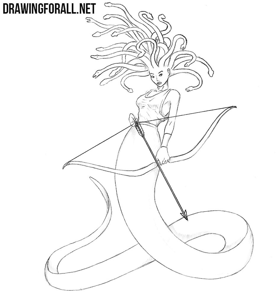 How to draw Medusa
