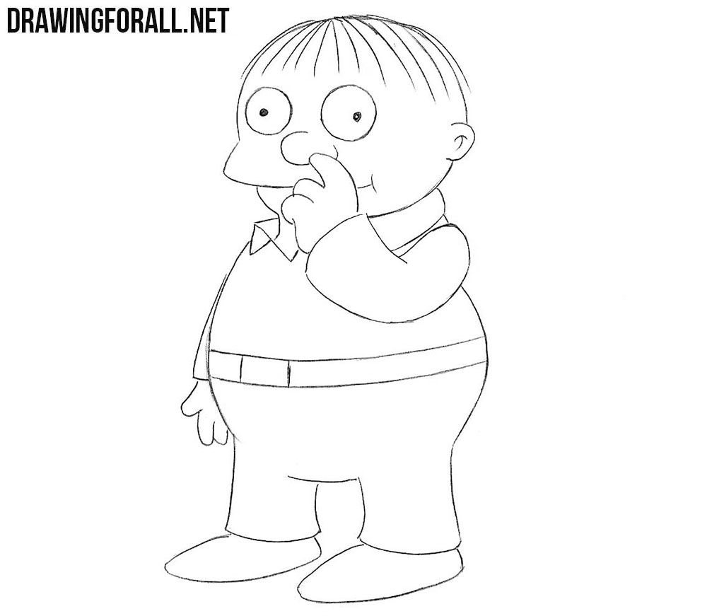 How to draw Ralph Wiggum