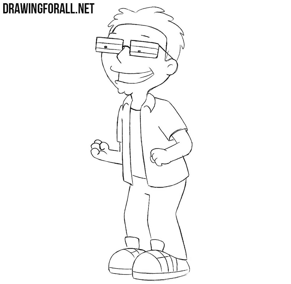 how to draw american dad