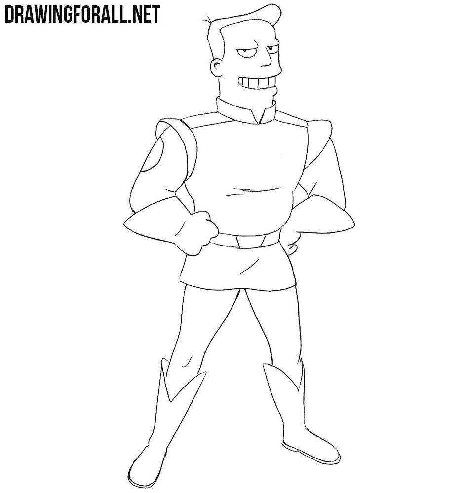 How to draw Zapp Brannigan