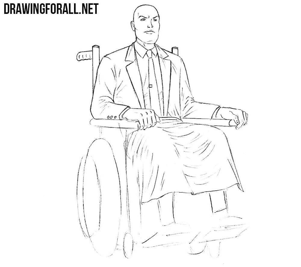 How to draw professor xavier from x men