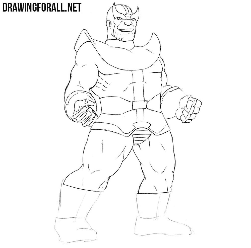 Thanos drawing tutorial