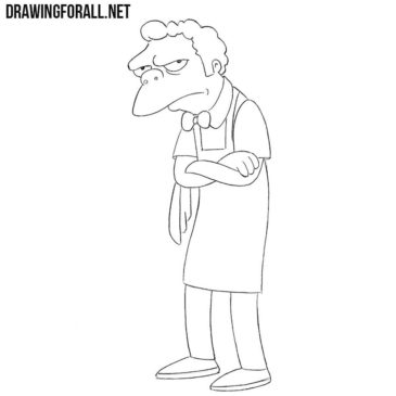 How to Draw Moe from the Simpsons