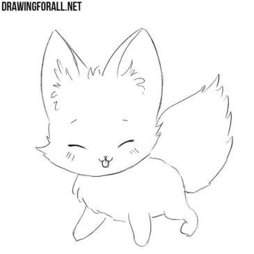 How to Draw a Chibi Fox