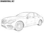 How to Draw a Mercedes-Benz C Class