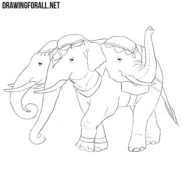 How to Draw Airavata