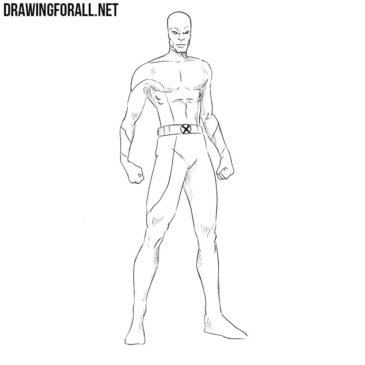 How to Draw Darwin from Marvel
