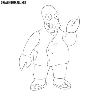 How to Draw Dr Zoidberg from Futurama