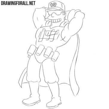 How to Draw Duffman from the Simpsons