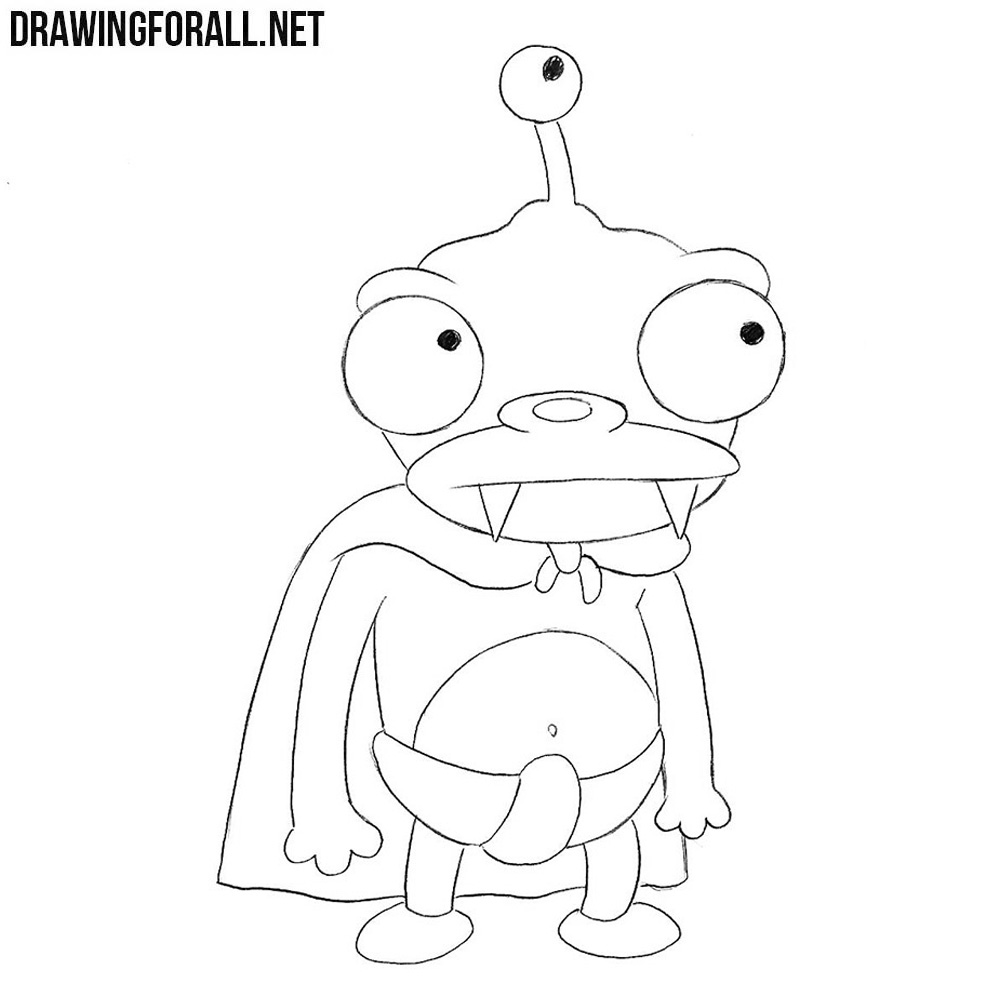 how to draw lord nibbler drawingforall net
