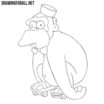How to Draw Mr. Teeny from the Simpsons