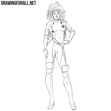 How to Draw Rogue from Marvel