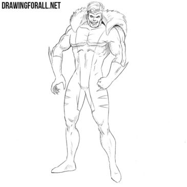 How to Draw Sabretooth