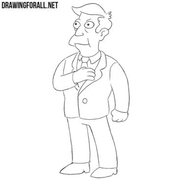 How to Draw Seymour Skinner Step by Step