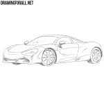 How to Draw a McLaren 720s