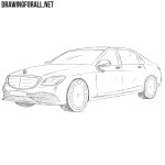 How to Draw a Mercedes-Maybach