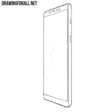 How to Draw a Samsung Galaxy A8