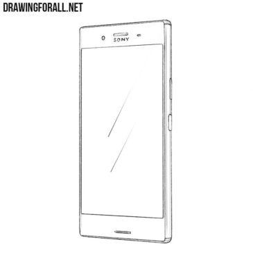 How to Draw a Sony Xperia XZ Premium