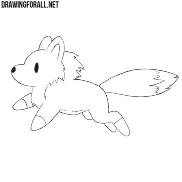 How to Draw a Chibi Wolf