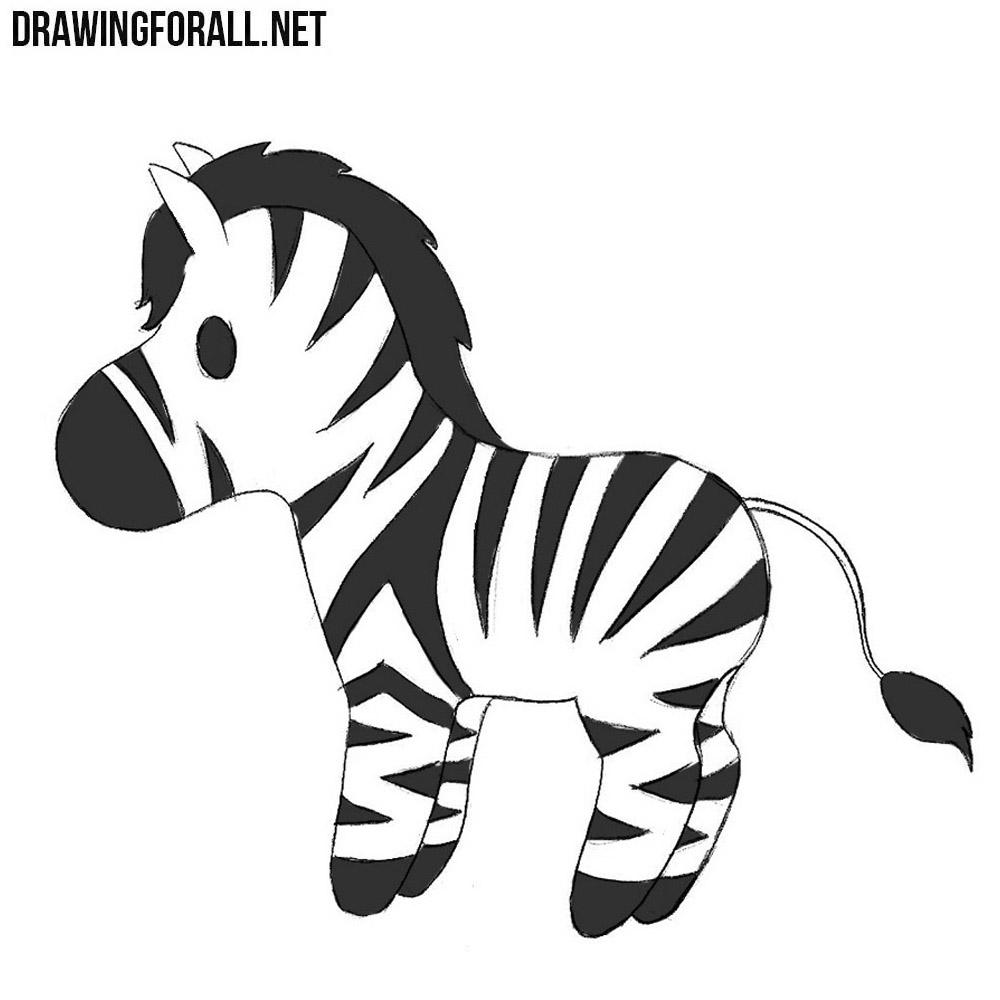 How to Draw a Chibi Zebra | DrawingForAll.net