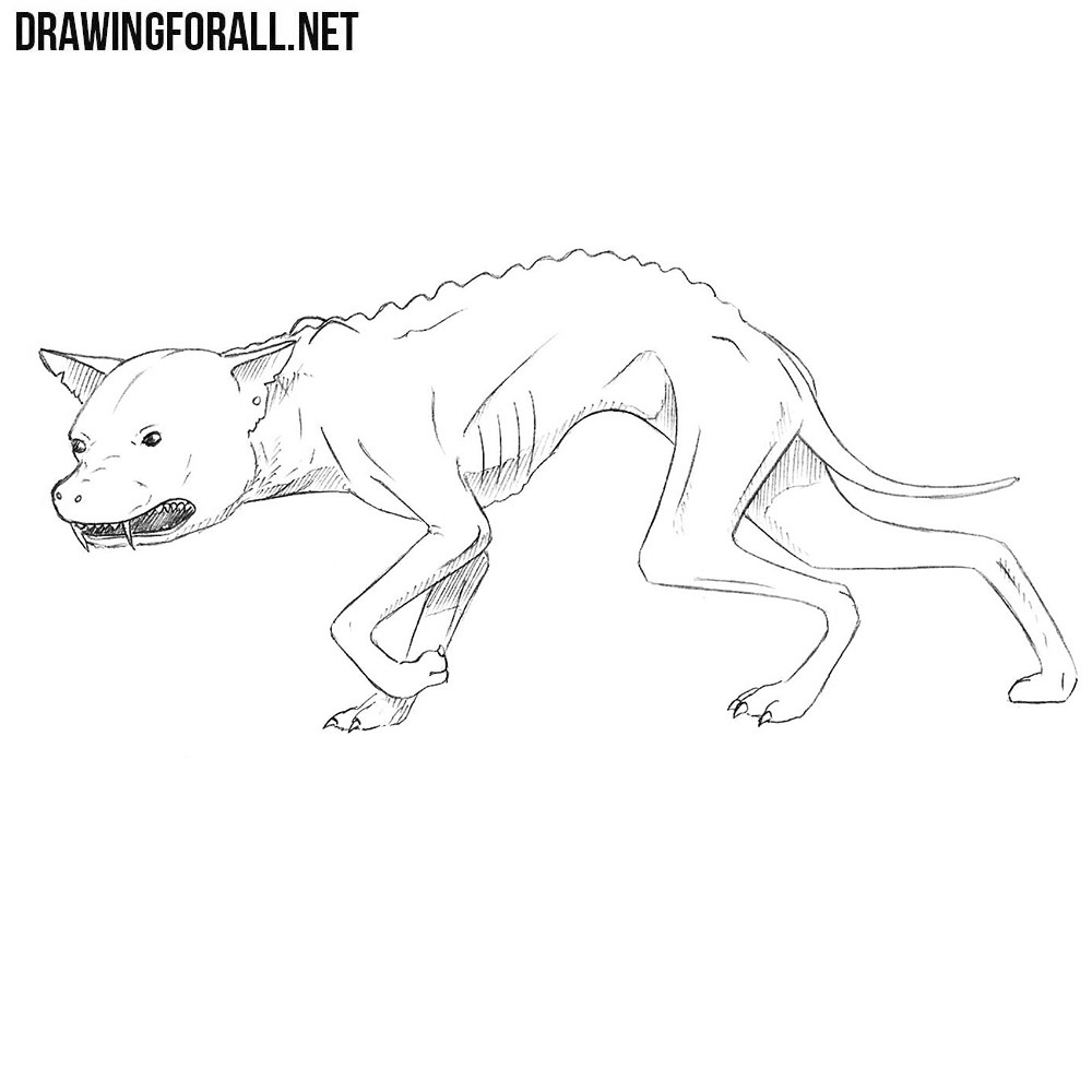 How to Draw a Chupacabra | DrawingForAll.net
