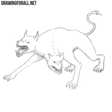 How to Draw a Monster Dog